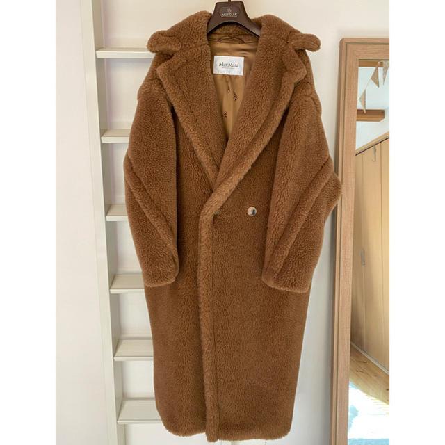 Max Mara(マックスマーラ)のマックスマーラ max mara テディベア アイコン コート キャメル S レディースのジャケット/アウター(毛皮/ファーコート)の商品写真