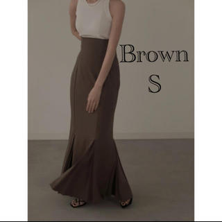 TODAYFUL - louren mermaid pleats skirt  brown S