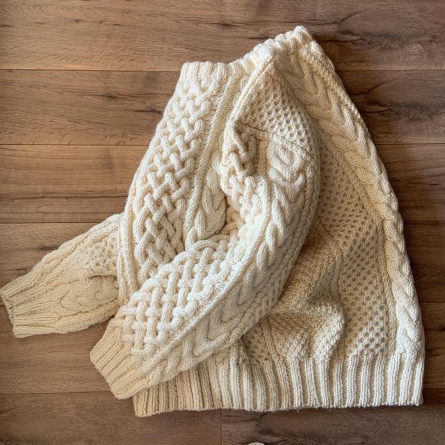 Lochie(ロキエ)の♦︎売切♦︎古着屋購入ヴィンテージアランニット ケーブルニット レディースのトップス(ニット/セーター)の商品写真