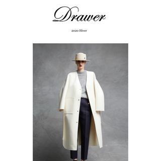 Drawer - 新品未使用 今季新作 ドゥロワー  コート ホワイト