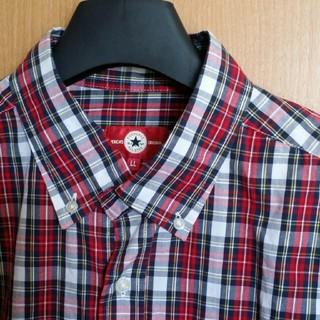 コンバース(CONVERSE)の新品  メンズ LL チェックシャツ (白×赤×紺) ボタンダウン(シャツ)