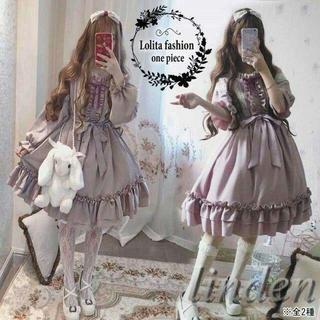 Lolita ロリータ ファッション ワンピース ロリータ服 レース メイド服