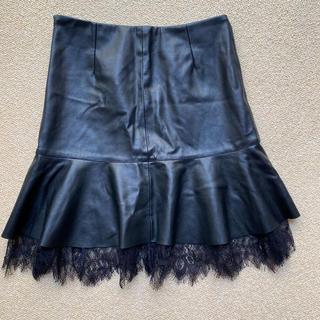 ZARA - ZARA 未使用品 フェイクレザースカート