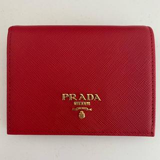 PRADA - PRADA プラダ 二つ折り財布 レッド