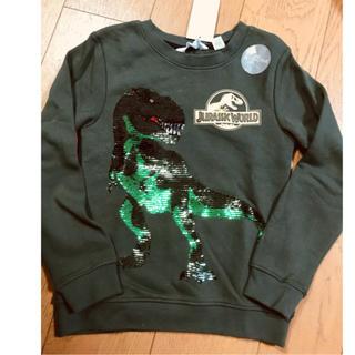 H&M - ✨120 恐竜ジュラシックワールド スパンコール シャツH&M