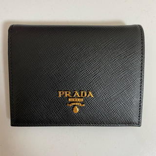PRADA - PRADA プラダ 二つ折り財布 ブラック
