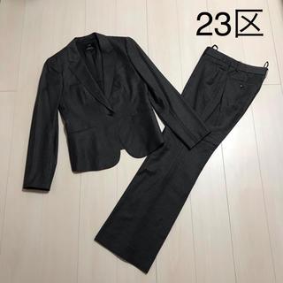 ニジュウサンク(23区)の23区 グレー ストライプ パンツスーツ(スーツ)