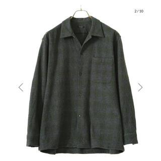 COMOLI - 新品 COMOLI 20AW ウールチェック オープンカラーシャツ サイズ3