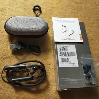 レノボ(Lenovo)のLenovo ネックバンド型 Bluetooth イヤホン 黒(ヘッドフォン/イヤフォン)