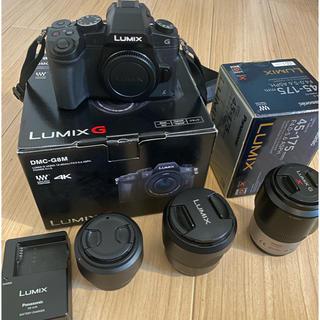 Panasonic - 中古 Panasonic LUMIX DMC-G8M レンズ3点セット 画面割れ