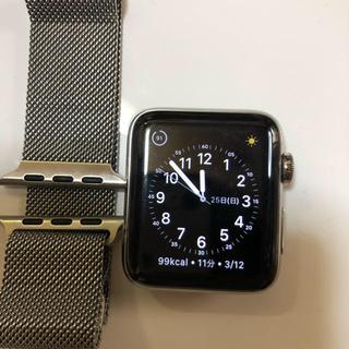 Apple Watch - アップルウォッチ2ステンレス42mmミラネーゼループ純正