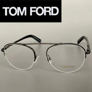 トムフォード(TOM FORD)のTOM FORD FT5451 トムフォード グレー メタル メガネ オーバル(サングラス/メガネ)