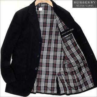 バーバリーブラックレーベル(BURBERRY BLACK LABEL)のJ3078バーバリーブラックレーベル チェック柄裏地 コーデュロイジャケットL(テーラードジャケット)