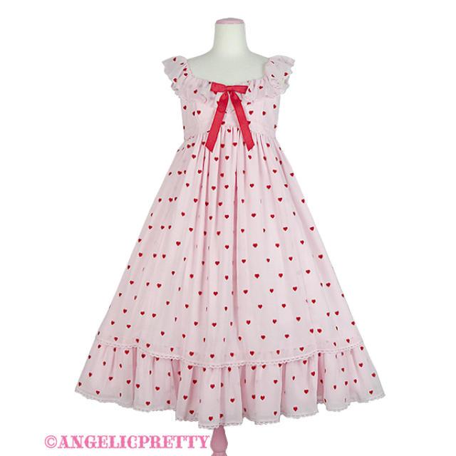 Angelic Pretty(アンジェリックプリティー)の【最終値下げ】Angelic Pretty:petit  heart jsk レディースのワンピース(ロングワンピース/マキシワンピース)の商品写真