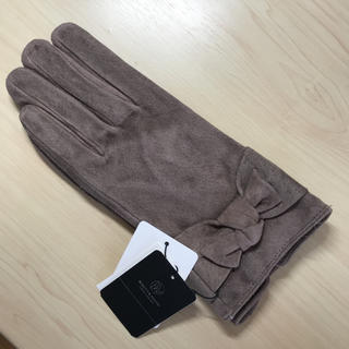 ビューティアンドユースユナイテッドアローズ(BEAUTY&YOUTH UNITED ARROWS)の新品タグ付き BEAUTY&YOUTH 手袋 豚革 スエード スマホ対応(手袋)