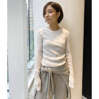 L'Appartement DEUXIEME CLASSE - アパルトモン☆RIB L/S TOP 新品ナチュラル