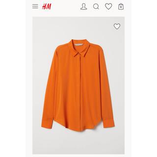 H&M - 定価4000円以上 H&M オレンジ ブラウス