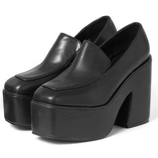 GRLスクエアトゥ厚底ボリュームローファー(ローファー/革靴)