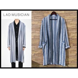 LAD MUSICIAN - 定価48,600円 ラッドミュージシャン 17AW ストライプ ガウン コート