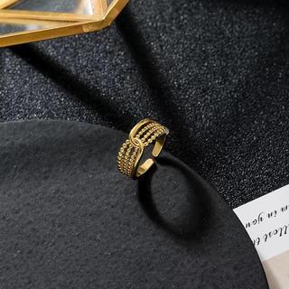 エテ(ete)の#303 予約受付商品♡ゴールドデザインリング(リング(指輪))