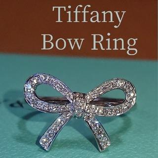Tiffany & Co. - ティファニー ボウ リング ダイヤ ダイヤモンド リボン プラチナ