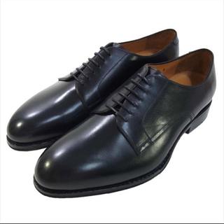 未使用!ジャラン スリウァヤ プレーントゥ 革靴BLACK CALF 8