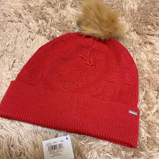 コーチ(COACH)の新品 正規品 COACH コーチ ニット帽 ニットキャップ シグネチャー(ニット帽/ビーニー)