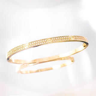 カルティエ(Cartier)の【保証書付】カルティエ ラブブレスSM YG 18 ダイヤ メンズ ブレス(ブレスレット)