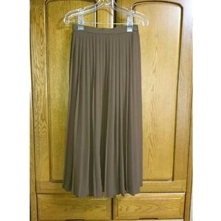 UNIQLO - プリーツスカート ロングスカート ユニクロ ブラウン