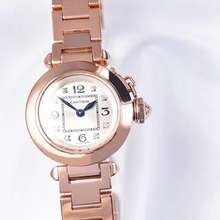 Cartier - 【仕上済】カルティエ ミスパシャ 金無垢 ダイヤ レディース 腕時計