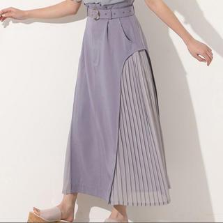 NICE CLAUP - 【NICE CLAUP】プリーツ異素材スカート【新品未使用】