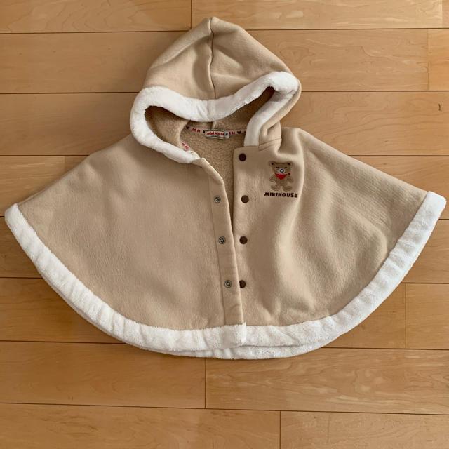 mikihouse(ミキハウス)のmikihouse  ポンチョ キッズ/ベビー/マタニティのベビー服(~85cm)(ジャケット/コート)の商品写真