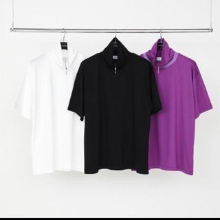 ジョンローレンスサリバン(JOHN LAWRENCE SULLIVAN)のLITTLE BIG ハイネックジップ カットソー(Tシャツ/カットソー(半袖/袖なし))