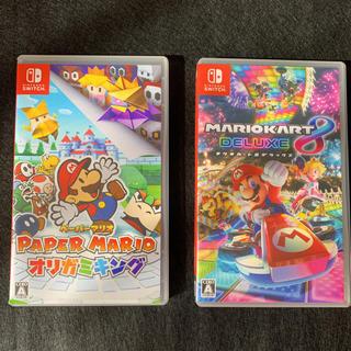 Nintendo Switch - ニンテンドー switch マリオカート8 ペーパーマリオオリガミキング ソフト
