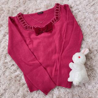 ハニーミーハニー(Honey mi Honey)の今週限定 レア pink ribbon tops(カットソー(長袖/七分))