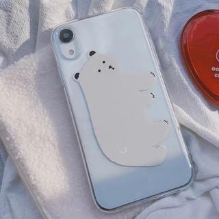 ディーホリック(dholic)のホワイトベアーiPhoneケース (iPhoneケース)