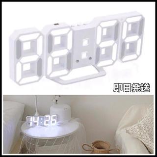LED時計 インテリア時計 韓国 デジタル お洒落 USB給電 アラーム 卓上