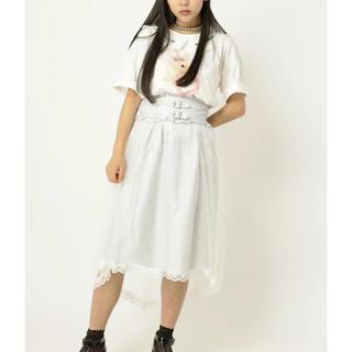 アンクルージュ(Ank Rouge)の【Ank Rouge】チュールテールスカート ホワイト【新品未使用】(ひざ丈スカート)