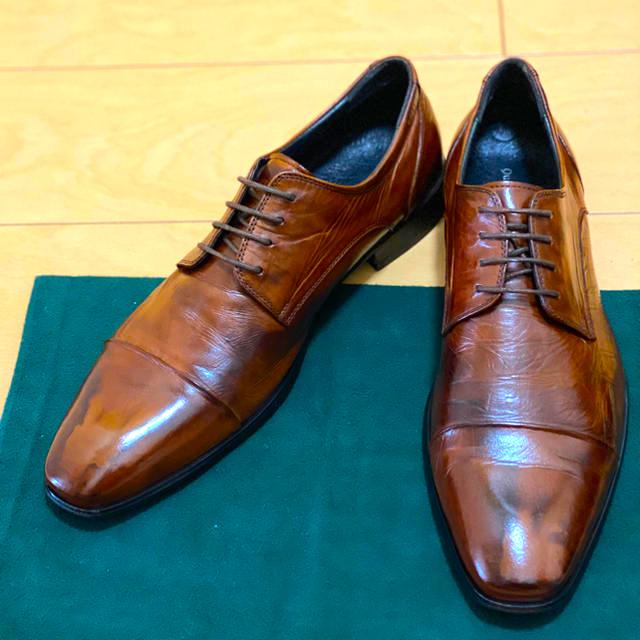 Santoni(サントーニ)のクインクラシコ 外羽根ストレートチップ ブラウン 44 メンズの靴/シューズ(ドレス/ビジネス)の商品写真