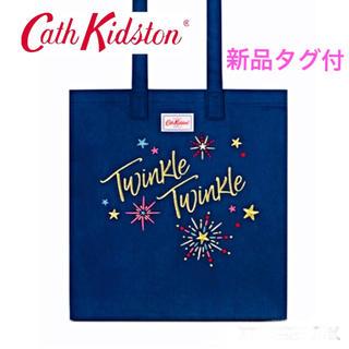Cath Kidston - キャスキッドソン☆コットン ブッグバッグ トートバッグ ネイビー 送料無料