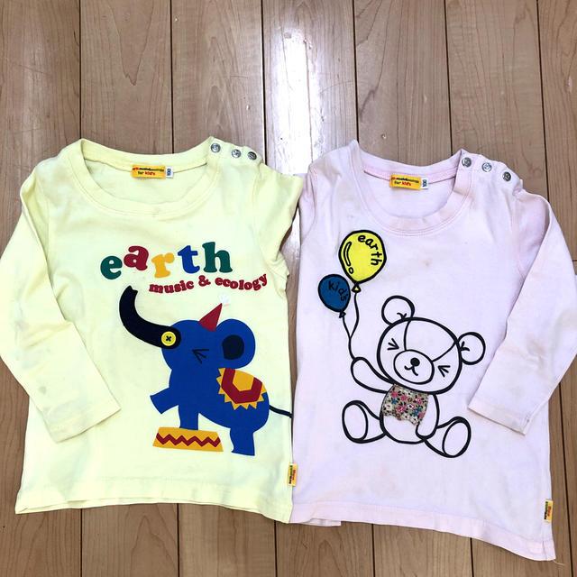 earth music & ecology(アースミュージックアンドエコロジー)の訳あり!アースミュージックエコロジー ロンT2枚 キッズ/ベビー/マタニティのキッズ服女の子用(90cm~)(Tシャツ/カットソー)の商品写真