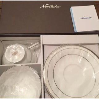 ノリタケ(Noritake)のノリタケ シャンパンパールズ ペア ティーカップ(グラス/カップ)