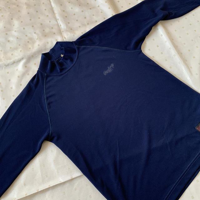 Rawlings(ローリングス)のローリングス Rawlings 野球 アンダーシャツ 紺 M  スポーツ/アウトドアの野球(ウェア)の商品写真