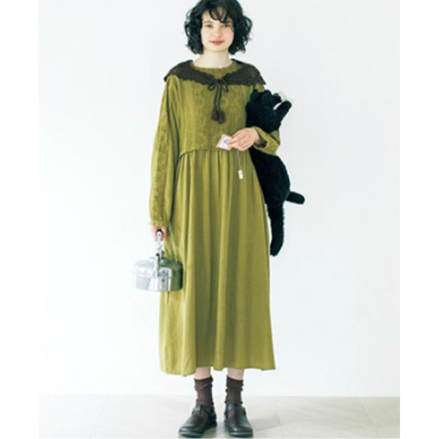SM2(サマンサモスモス)の[最終値下げ]花の透かしレースワンピース レディースのワンピース(ロングワンピース/マキシワンピース)の商品写真