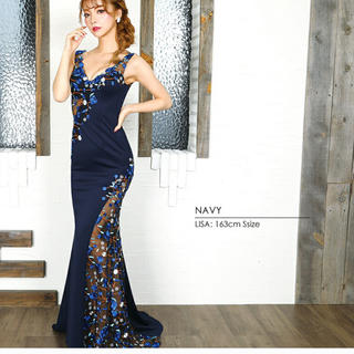 AngelR - 新品❤半額以下!AngelR❤エンジェルアール フラワー刺繍 タイトロングドレス
