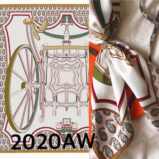 Hermes - エルメス カレ90  四輪馬車の車輪 2020秋冬新作