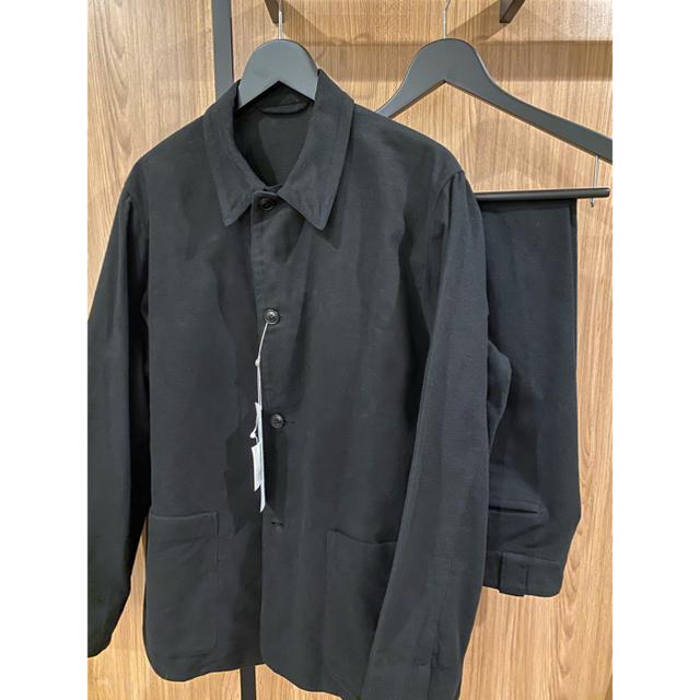 COMOLI(コモリ)のCOMOLI 20AW 新作モールスキンセットアップ ブラック サイズ3 新品 メンズのスーツ(セットアップ)の商品写真