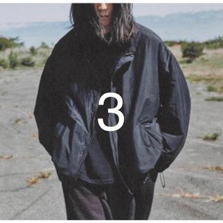 COMOLI - サイズ3 comoli コモリ 20aw ナイロンショートジャケット ネイビー