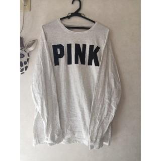 ヴィクトリアズシークレット(Victoria's Secret)のvictoria's secret PINK 長袖 Tシャツ カットソー(Tシャツ(長袖/七分))