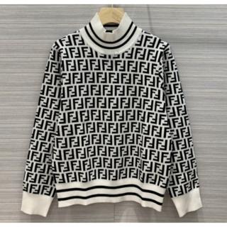 FENDI - ◇FENDI◆長袖 FF ロゴ 黒白 セーター